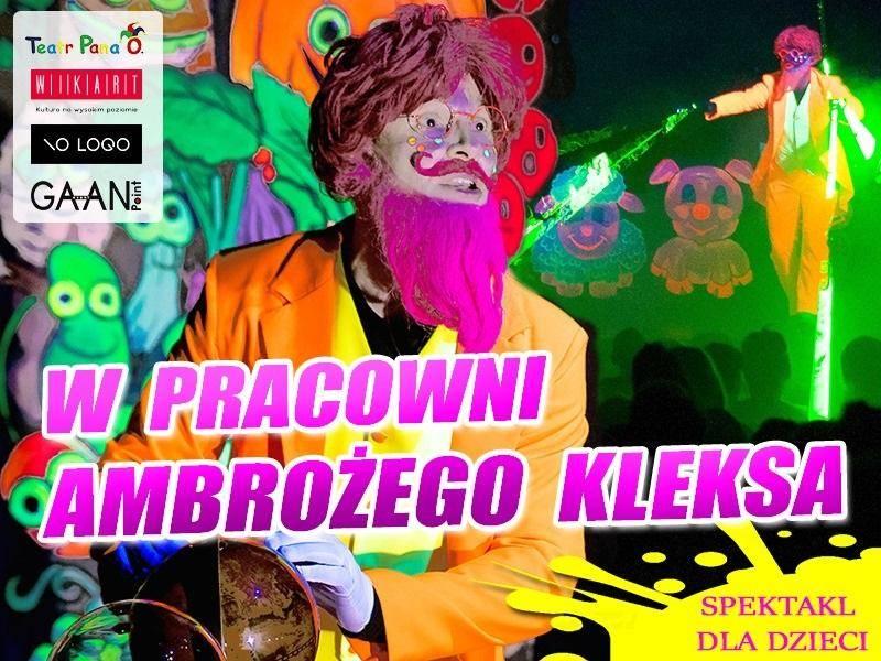 """Spektakl """"W pracowni Ambrożego Kleksa"""" w Kinie Apollo w Poznaniu"""