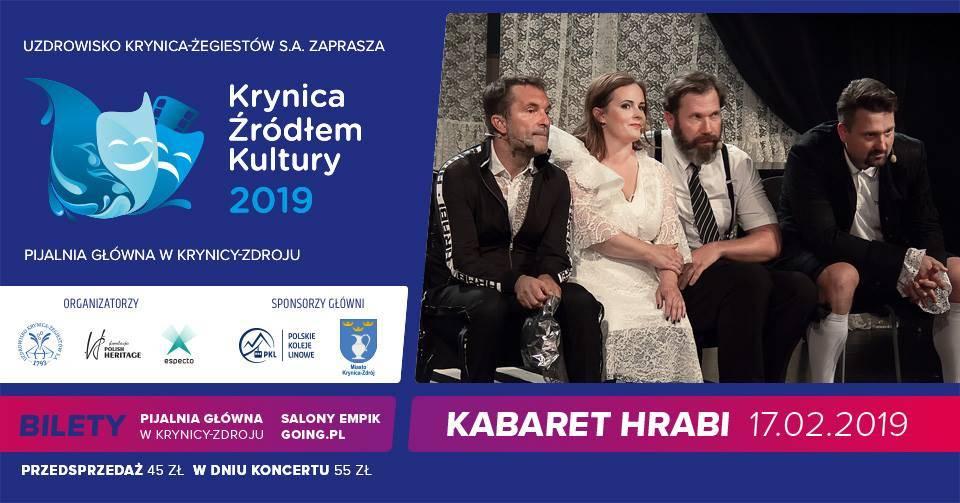 Kabaret Hrabi w Pijalni Głównej w Krynicy-Zdroju
