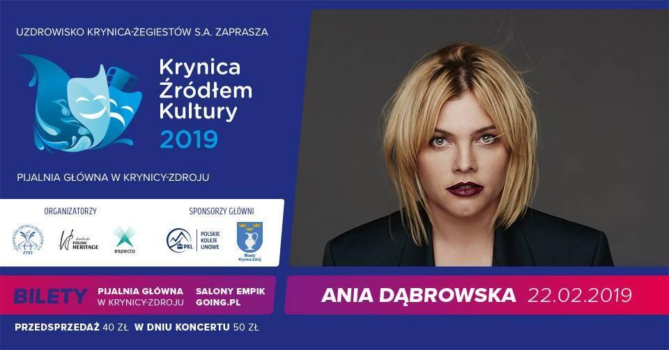 Koncert Ani Dąbrowskiej w Pijalni Głównej w Krynicy-Zdroju