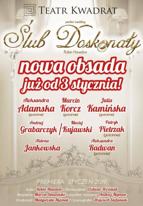 """Spektakl """"Ślub doskonały"""" w Teatrze Rozrywki w Chorzowie"""