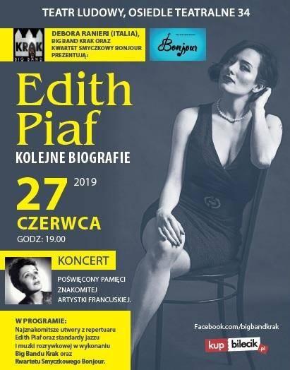 """Muzyczne widowisko """"Edith Piaf - Kolejne biografie"""" w Teatrze Ludowym w Krakowie"""