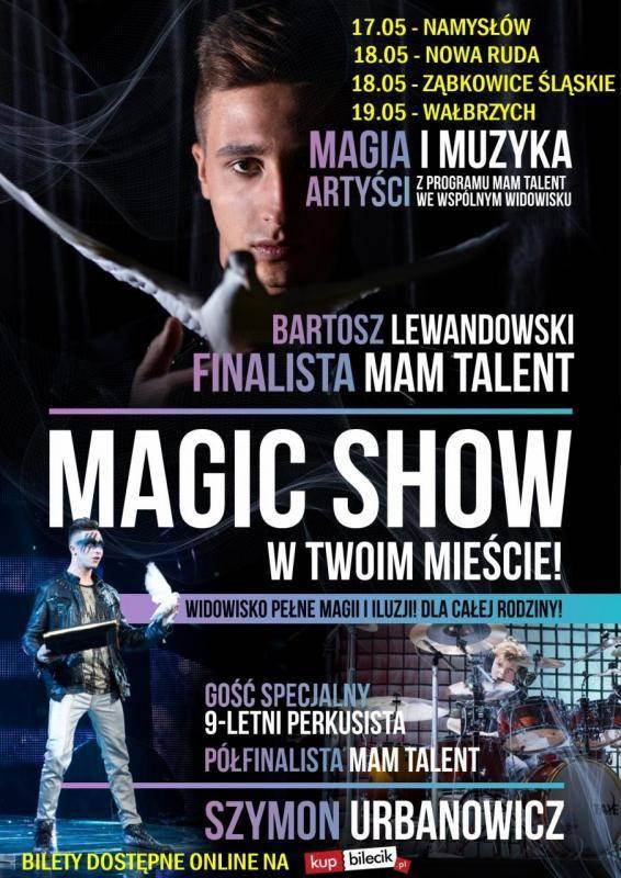 Widowisko magii i iluzji Bartosza Lewandowskiego w Namysłowskim Ośrodku Kultury