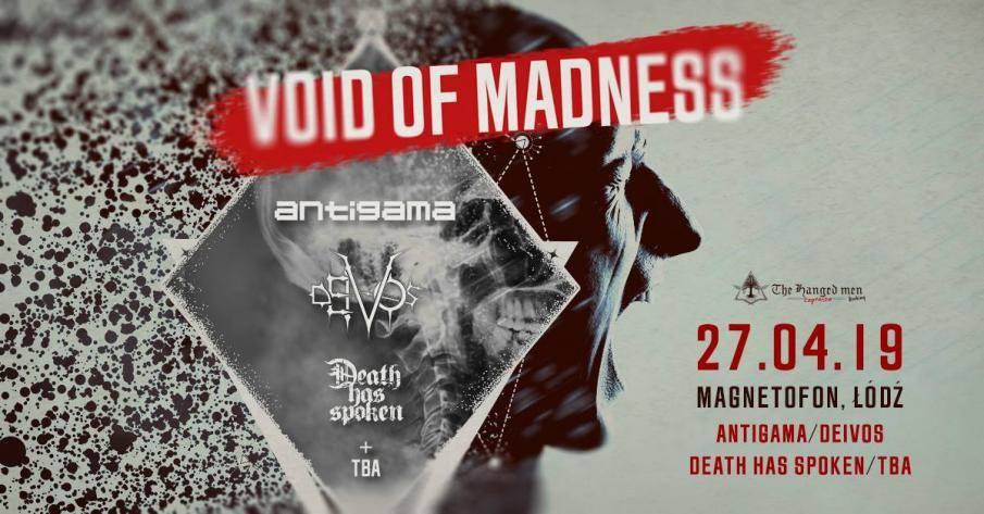 Void of Madness w klubie Magnetofon w Łodzi: Antigama / Deivos
