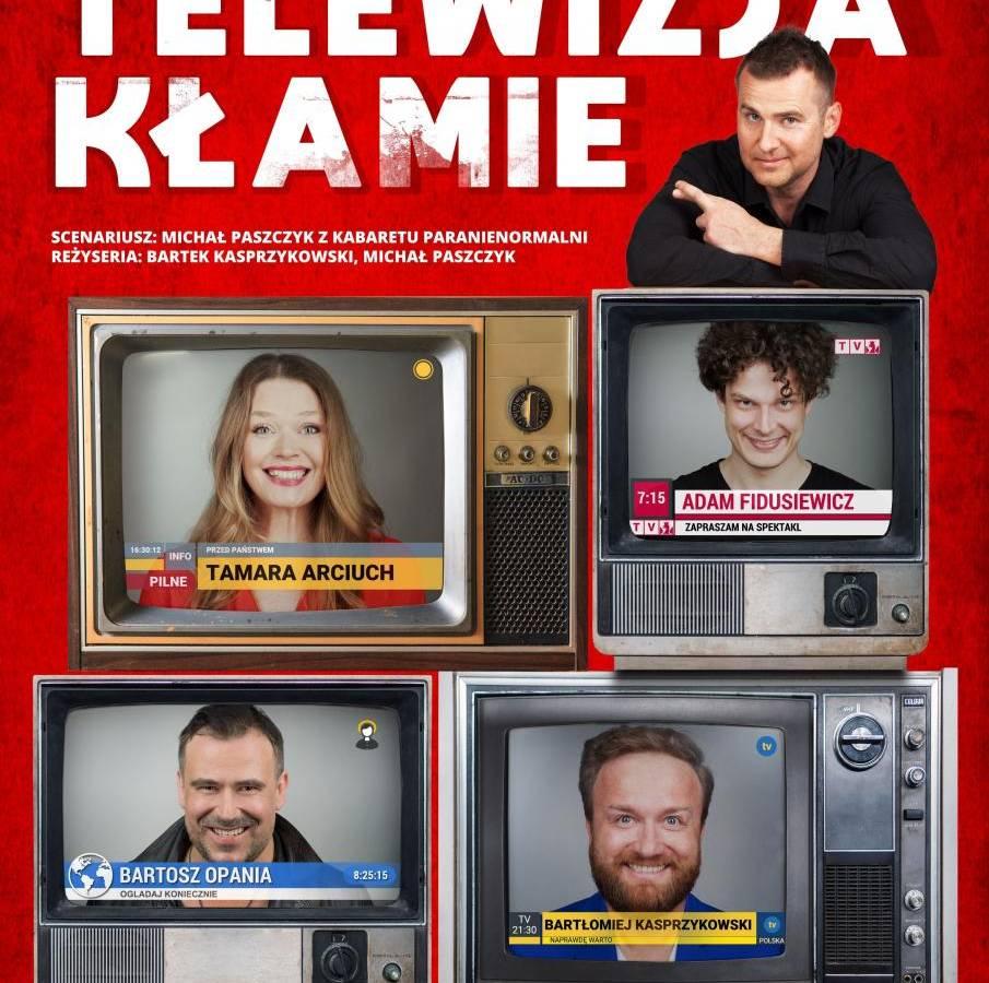 """Spektakl """"Telewizja kłamie"""" w Filharmonii Sudeckiej w Wałbrzychu"""