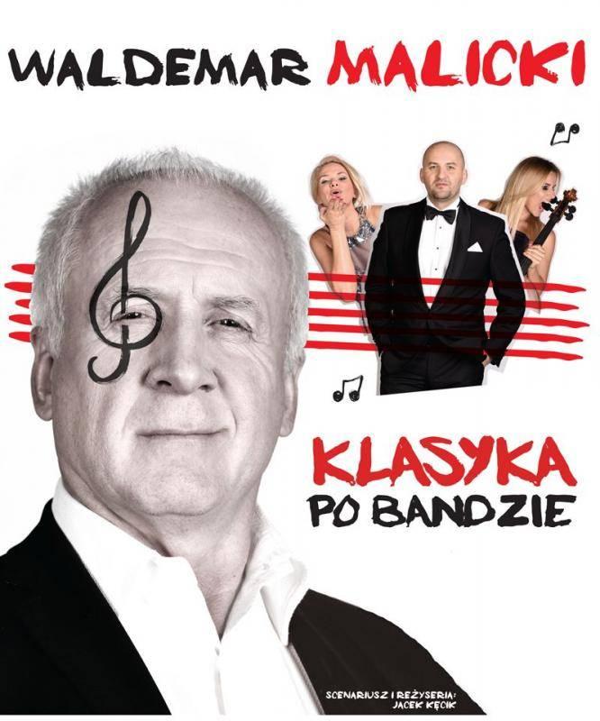 Koncert Waldemara Malickiego w KDK w Kutnie: Klasyka po bandzie