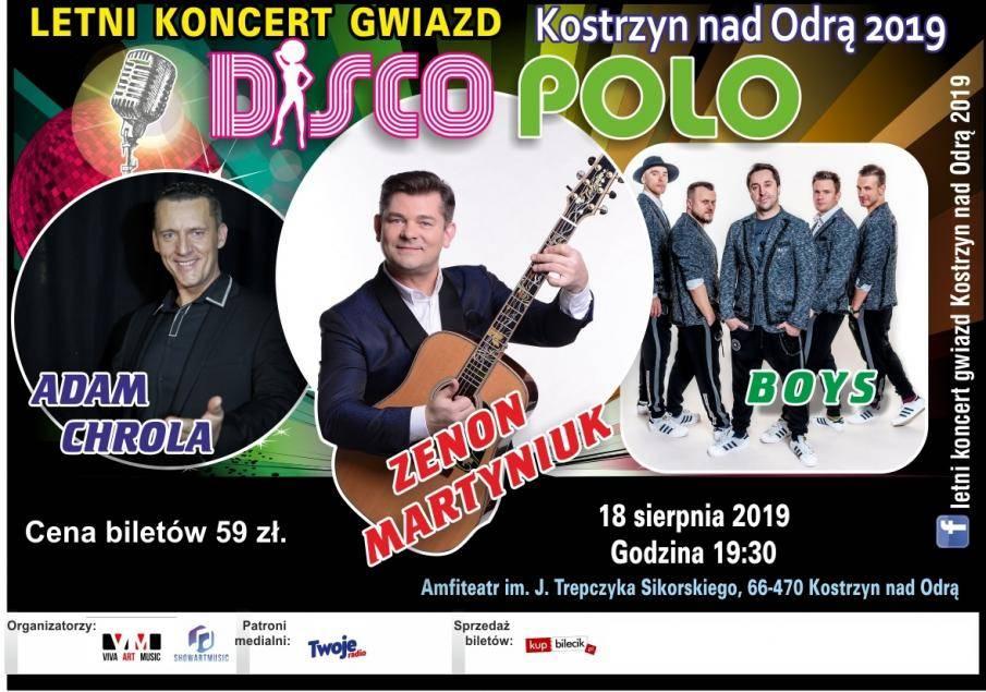 Letni Koncert Gwiazd Disco Polo 2019 w Amfiteatrze w Kostrzynie nad Odrą