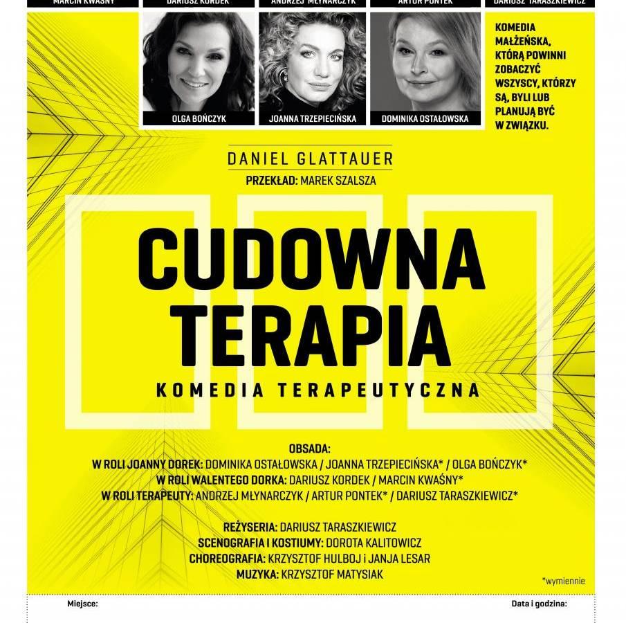 """Spektakl """"Cudowna terapia"""" w Centrum Kultury w Łomży"""