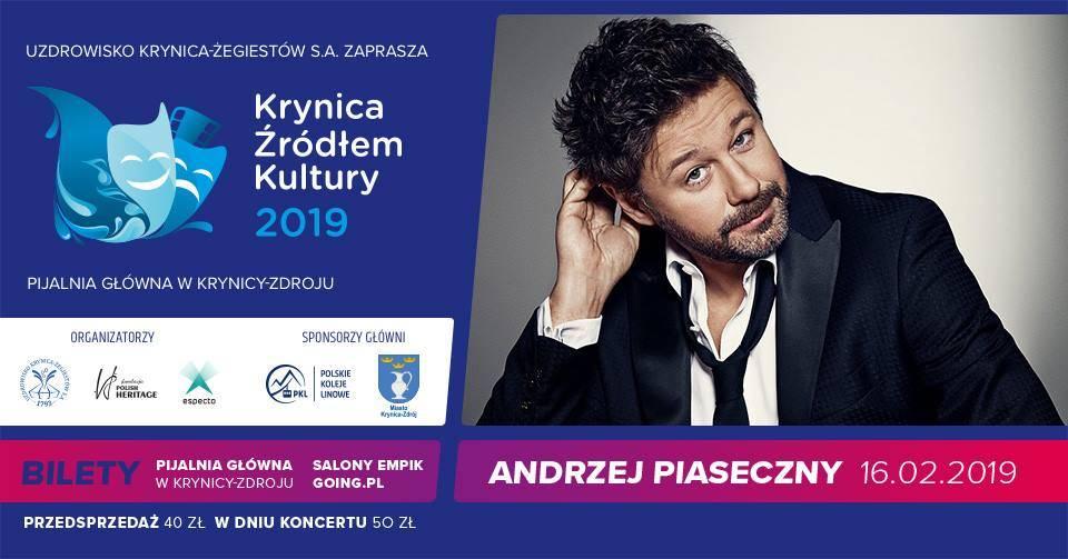 Koncert Andrzeja Piasecznego w Pijalni Głównej w Krynicy-Zdroju