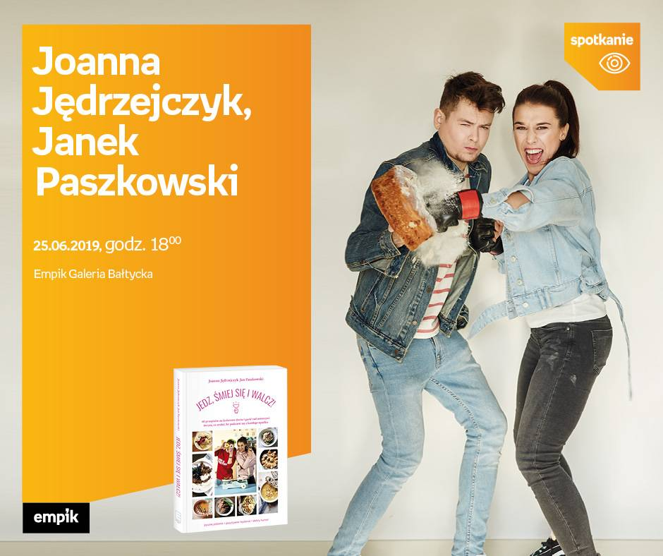 Joanna Jędrzejczyk i Janek Paszkowski w Empik Galeria Warmińska w Olsztynie