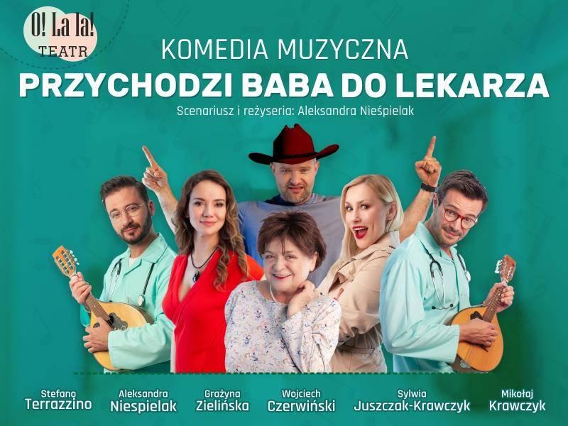 """Spektakl """"Przychodzi baba do lekarza"""" w Miejskim Centrum Kultury w Gostyninie"""