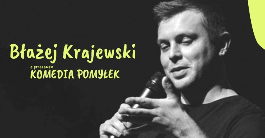 Stand-up Błażeja Krajewskiego w MDK w Przasnyszu: Komedia pomyłek