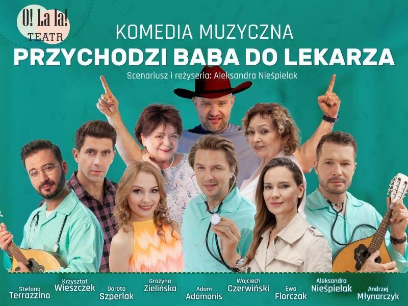 """Spektakl """"Przychodzi baba do lekarza"""" w Miejskim Domu Kultury w Przasnyszu"""