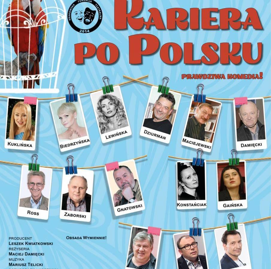 """Spektakl """"Kariera po polsku"""" w Domu Kultury w Kętach"""