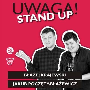 Uwaga Stand Up: Błażej Krajewski, Jakub Poczęty-Błażewicz w Toruniu