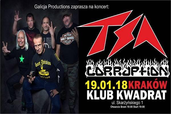 Koncert: TSA, Corruption w Krakowie