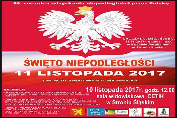 Święto niepodległości. 99 rocznica - Stronie Śląskie