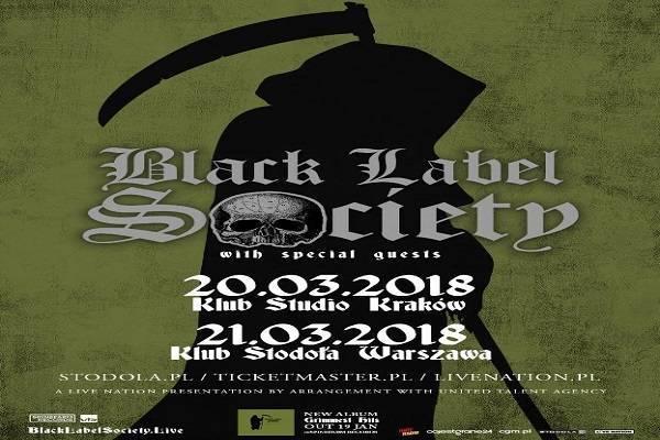 Koncert: Black Label Society w Warszawie