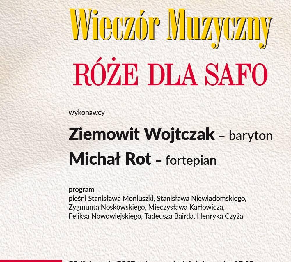 Wieczór muzyczny w Łodzi: Róże dla Safo - polska liryka wokalna