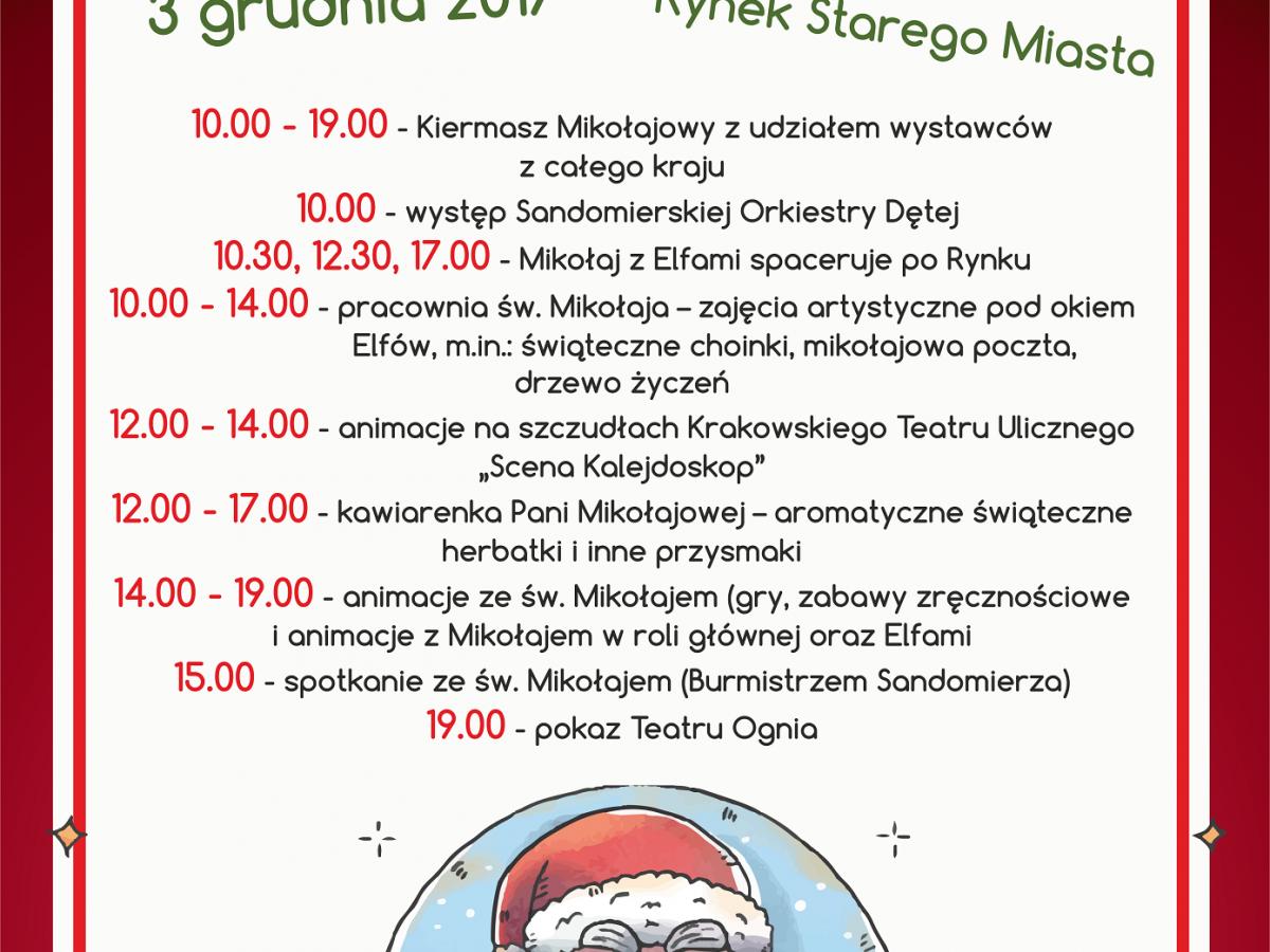 Mikołajki 2017 w Sandomierzu