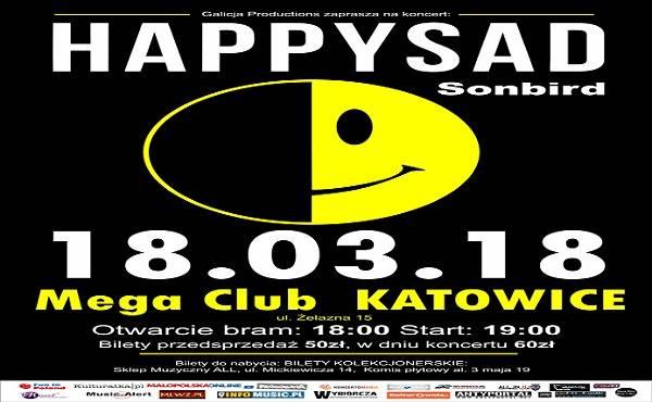 Koncert: Happysad i Sonbird w Katowicach