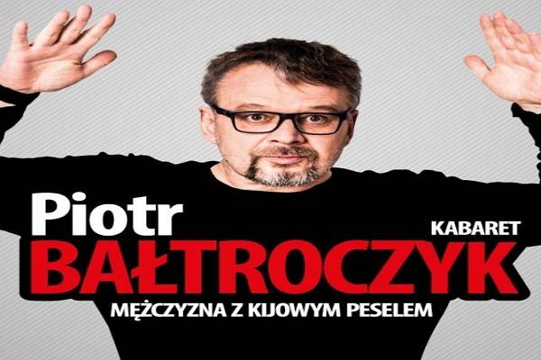 Kabareciarz Piotr Bałtroczyk w Płocku