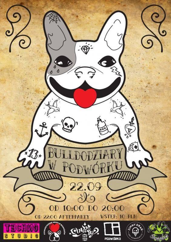 Bulldodziary w Podwórku - tatuujemy dla psiaków!