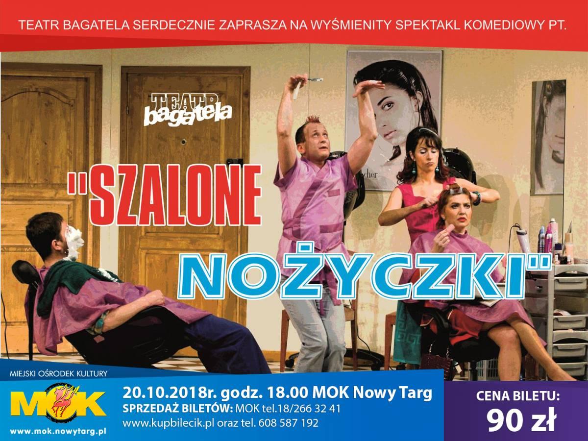 """Spektakl """"Szalone nożyczki"""" w MOK Nowy Targ"""