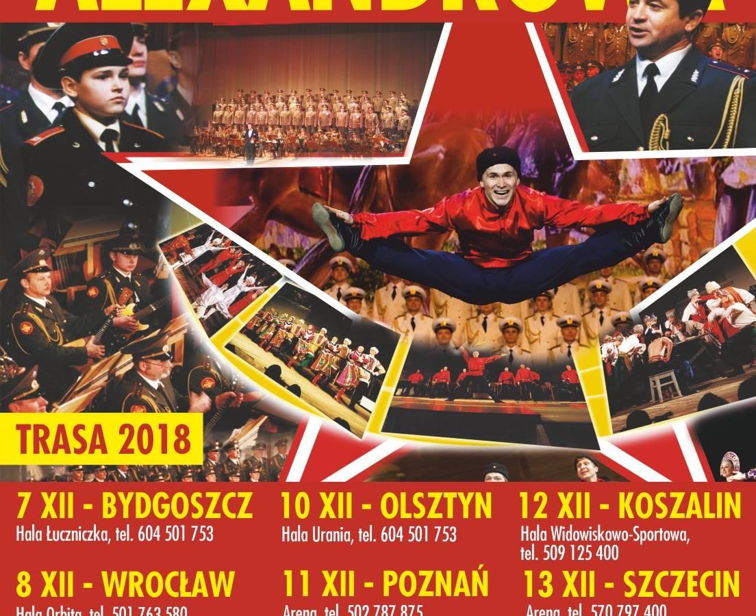 Koncert Chóru Alexandrowa w Hali Widowiskowo-Sportowej w Koszalinie