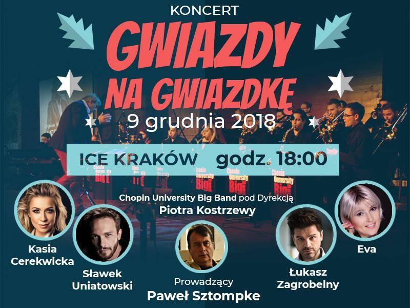 """Koncert """"Gwiazdy na Gwiazdkę """" w ICE Kraków"""