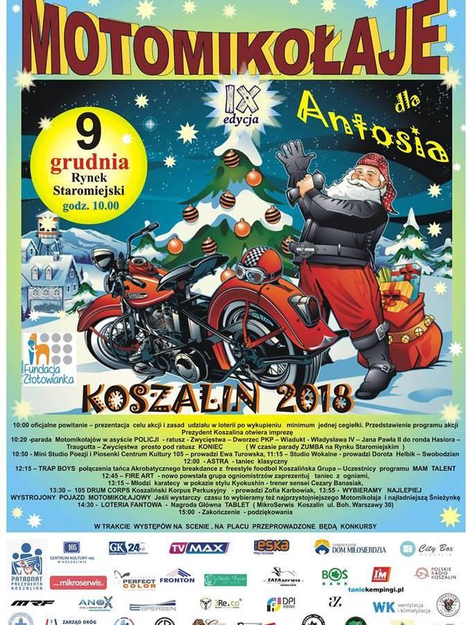 Motomikołaje 2018 - impreza charytatywna w Koszalinie