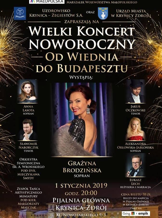 Wielki Koncert Noworoczny w Pijalni Głównej w Krynicy-Zdroju