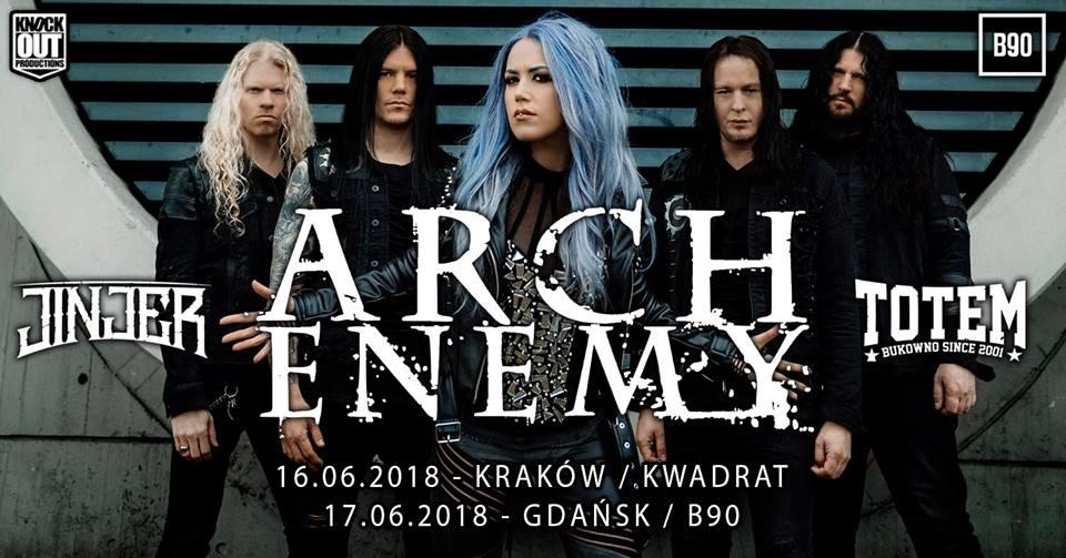 Koncert Arch Enemy w Gdańsku
