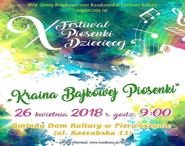 X Festiwal Piosenki Dziecięcej w Pierwoszynie