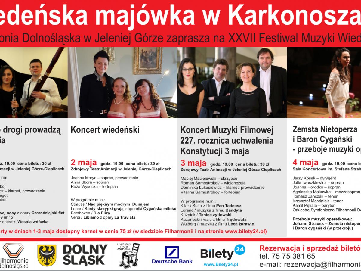 """XXVII Festiwal Muzyki Wiedeńskiej: """"Muzyczne drogi prowadzą do Wiednia"""""""