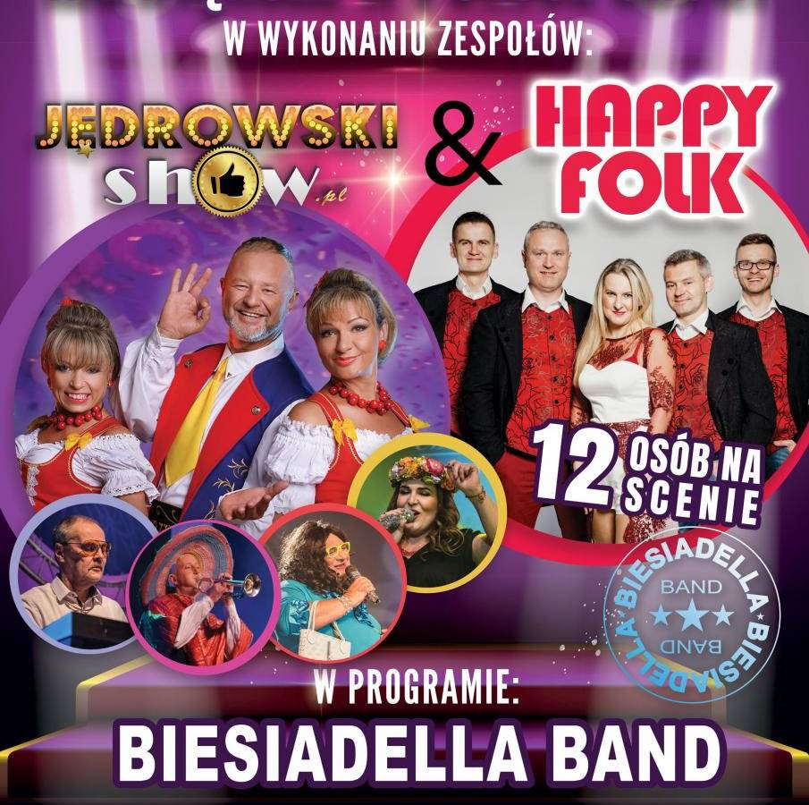 Jędrowski Show & Happy Folk w programie Biesiadella Band - Głogówek