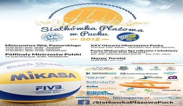 Siatkówka Plażowa w Pucku 2018 - Mistrzostwa Woj. Pomorskiego - MŁODZICZKI
