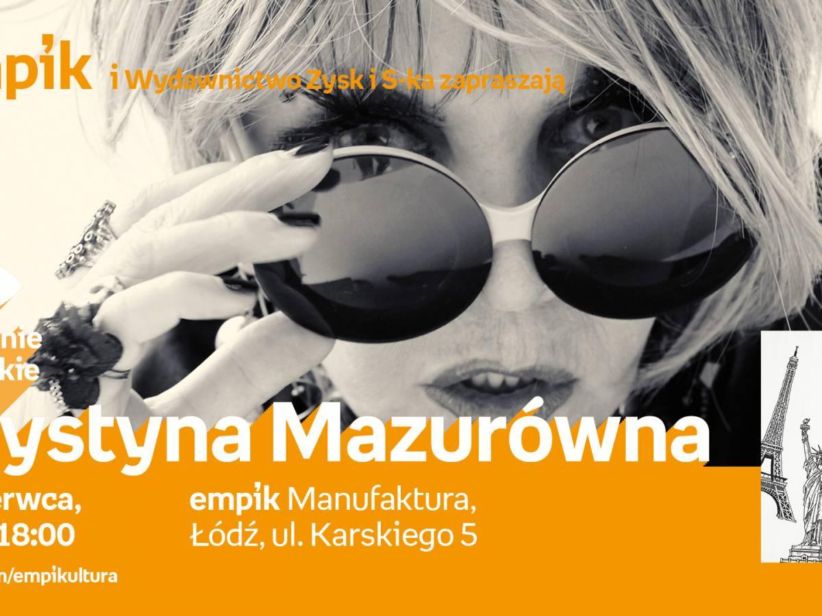 Spotkanie autorskie Krystyny Mazurówny w empik Manufaktura