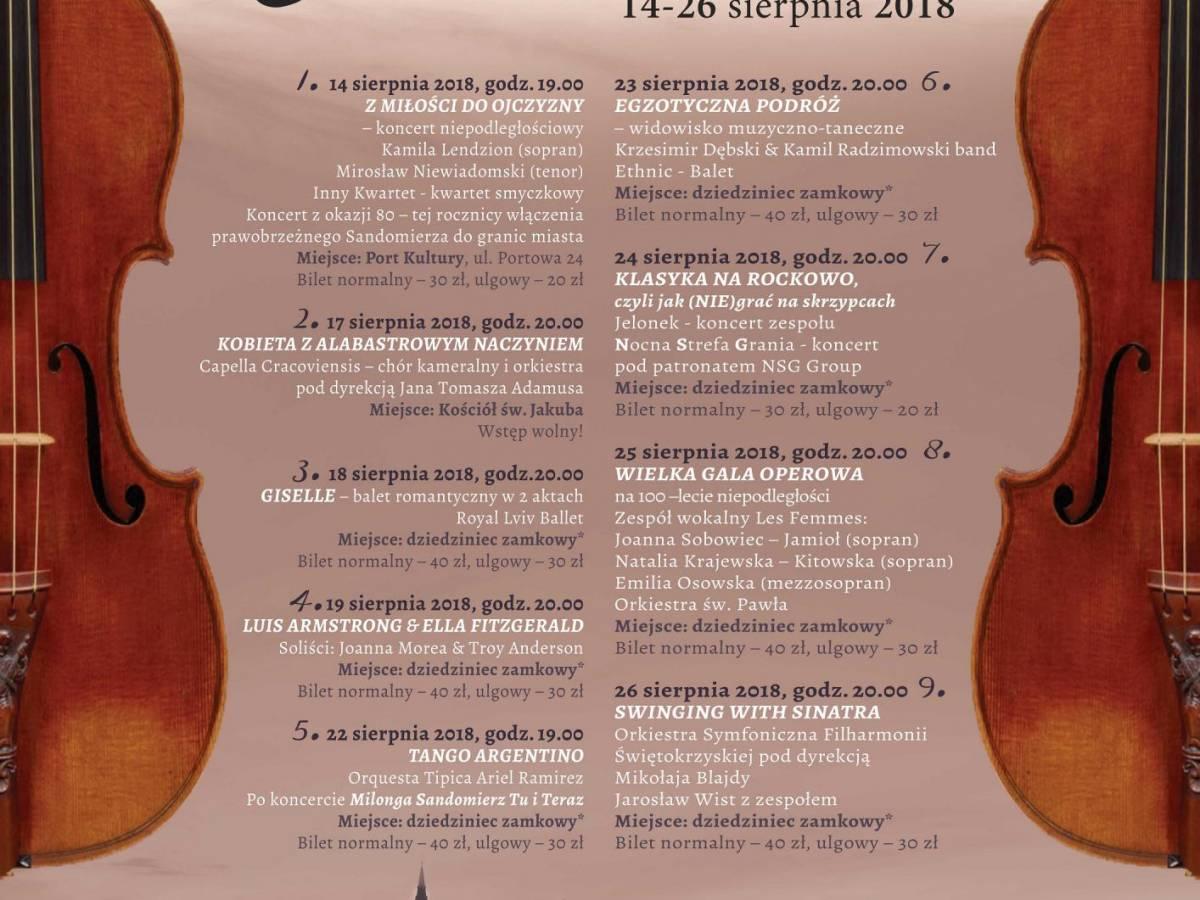 "XXVIII Festiwal Muzyka w Sandomierzu: ""Luis Armstrong & Ella Fitzgerald"""