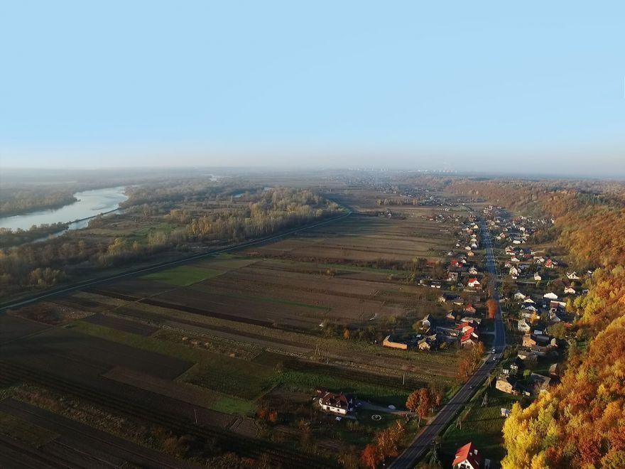 Dolina Wisły w okolicach Kazimierza Dolnego