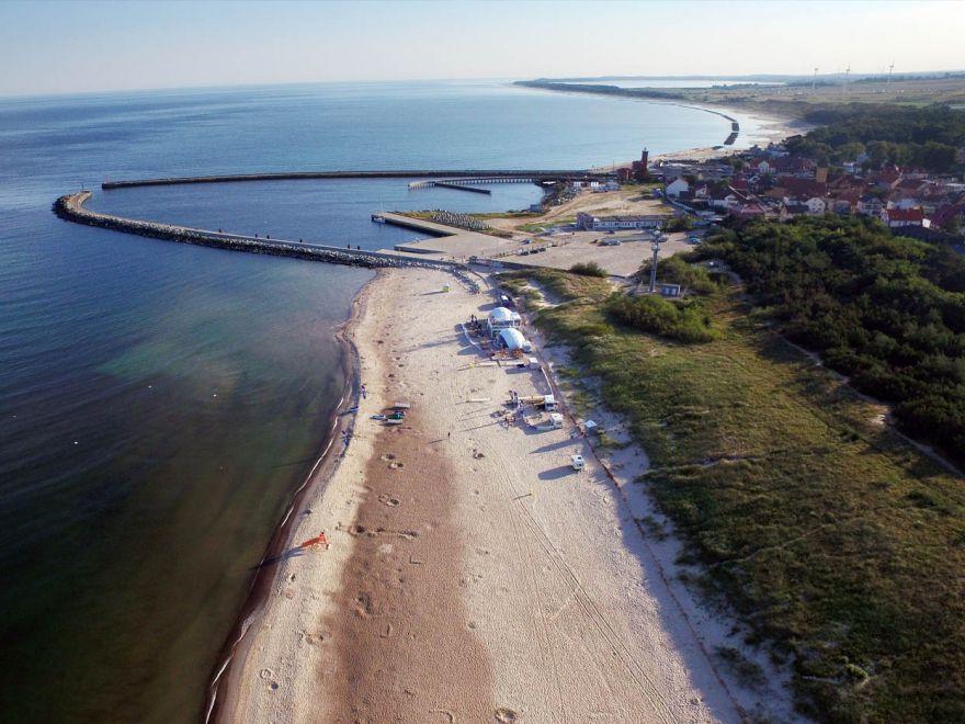 Port i plaża w Darłówku