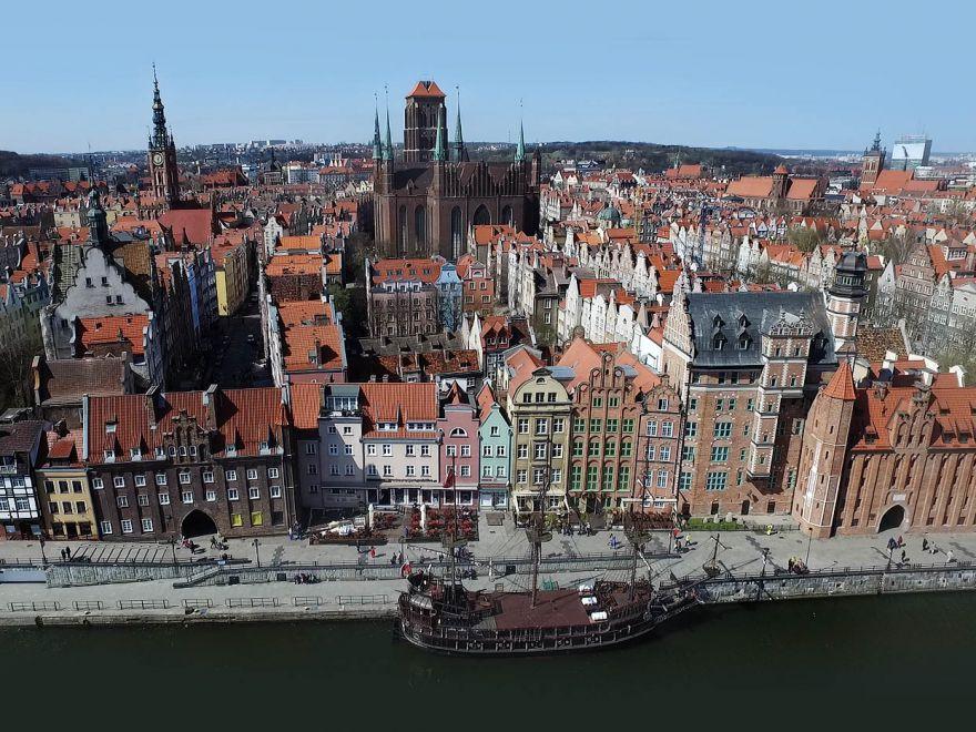 Główne Miasto i Wyspa Spichrzów w Gdańsku